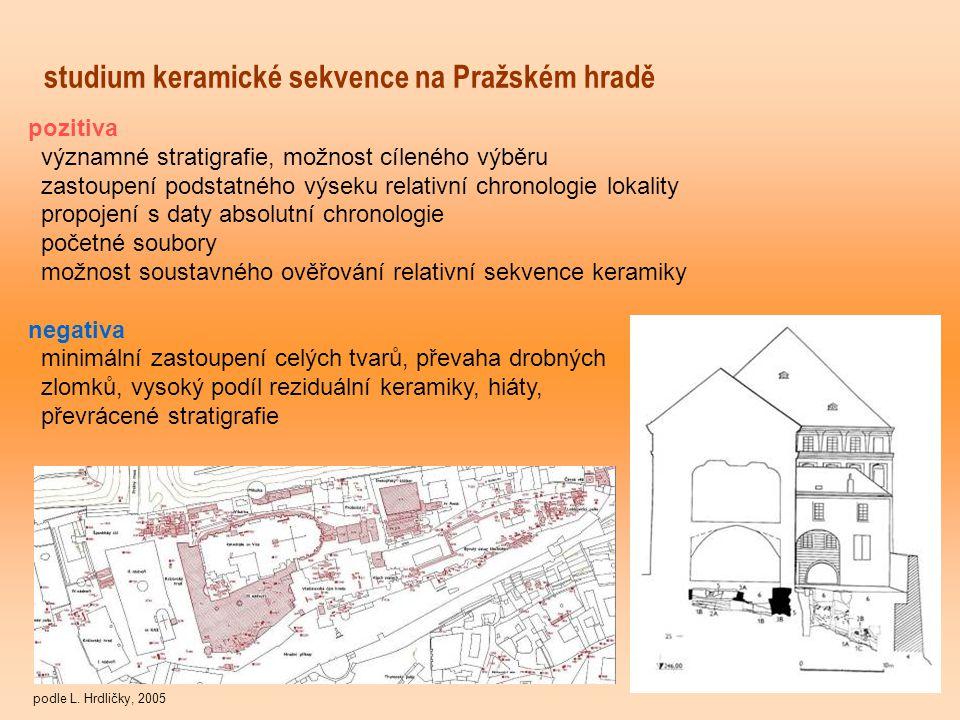 studium keramické sekvence na Pražském hradě