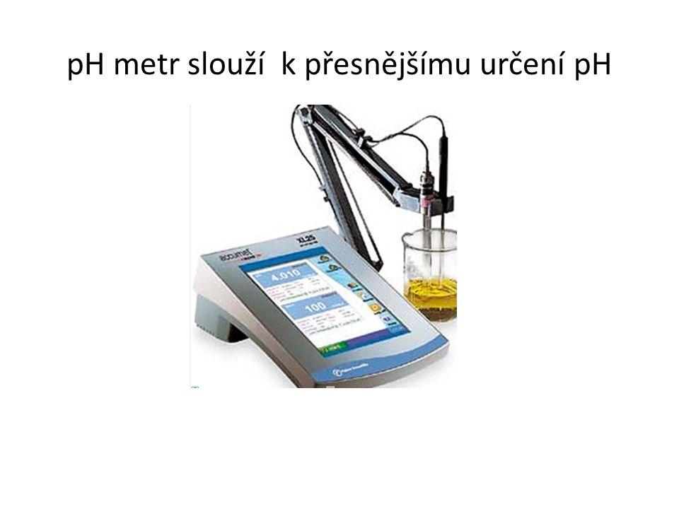 pH metr slouží k přesnějšímu určení pH