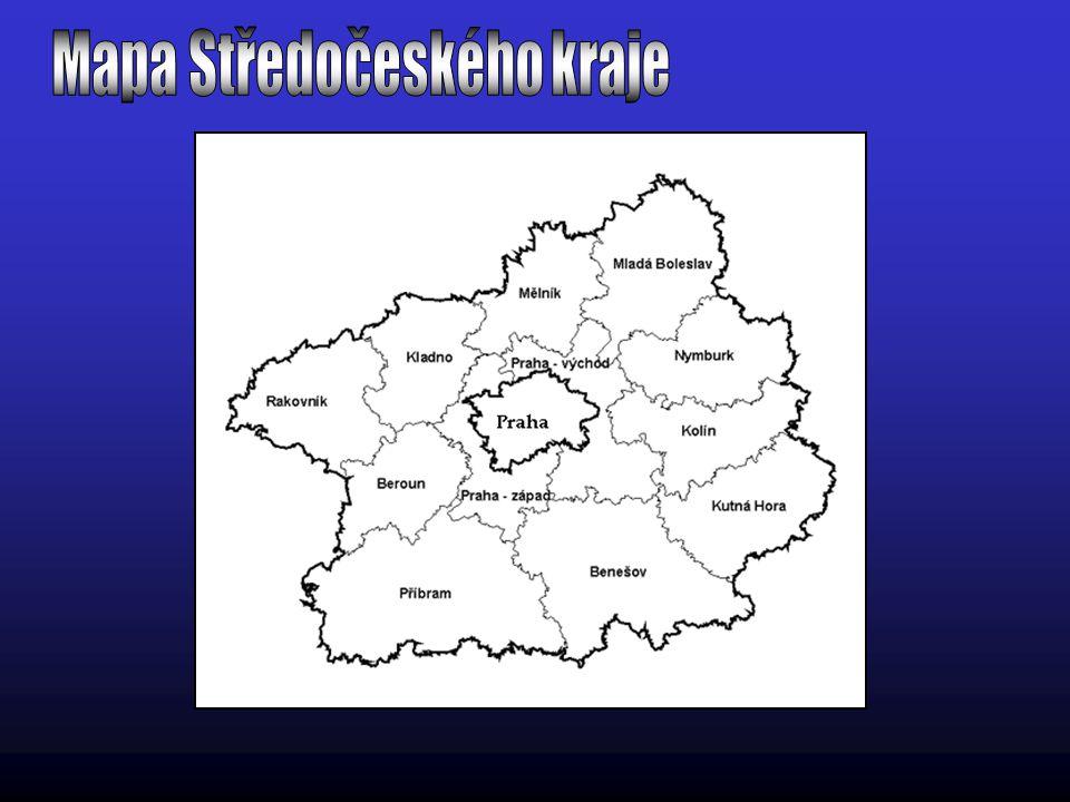 Mapa Středočeského kraje