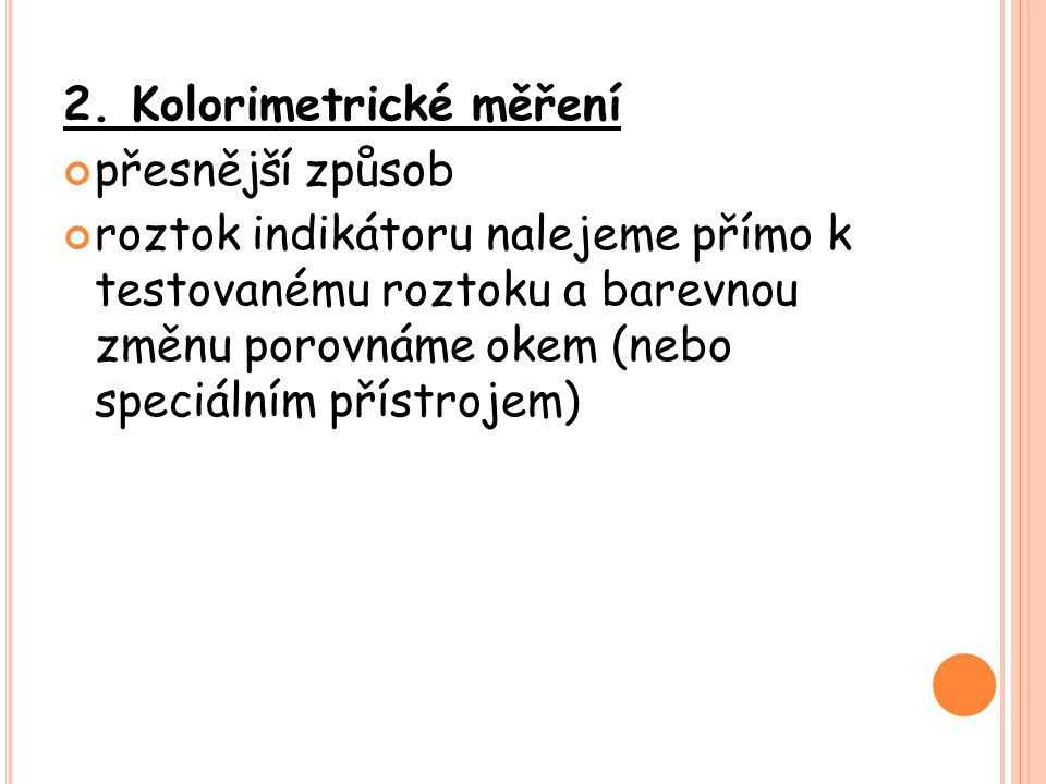 2. Kolorimetrické měření