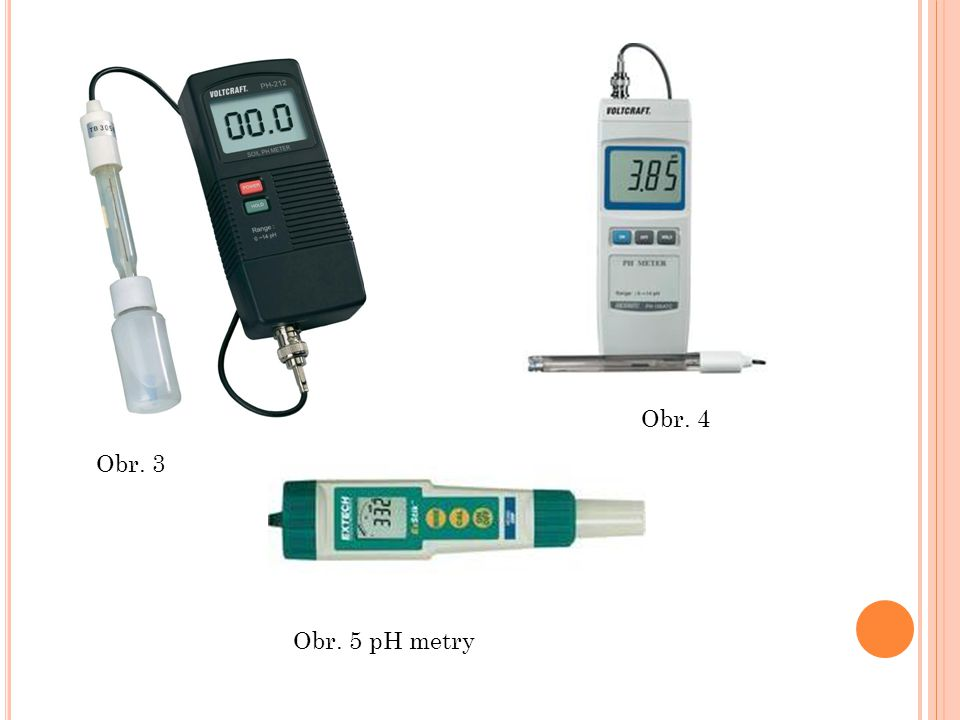 Obr. 4 Obr. 3 Obr. 5 pH metry