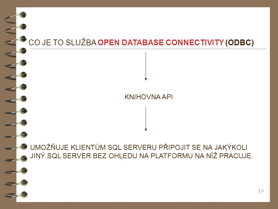 CO JE TO SLUŽBA OPEN DATABASE CONNECTIVITY (ODBC)