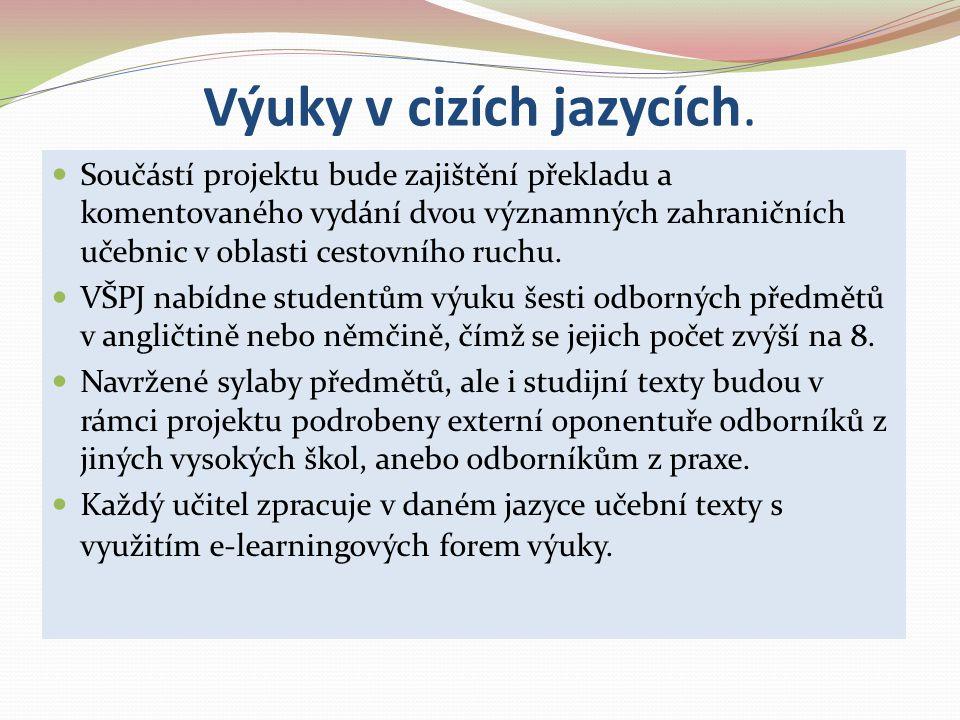Výuky v cizích jazycích.