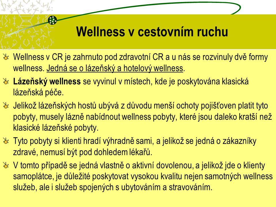 Wellness v cestovním ruchu