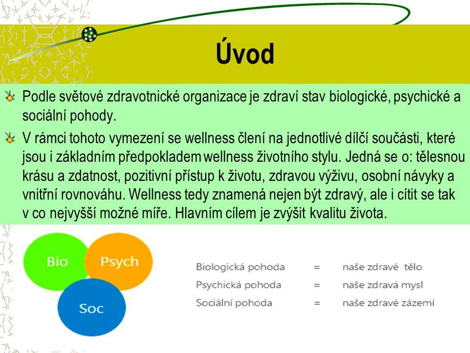 Úvod Podle světové zdravotnické organizace je zdraví stav biologické, psychické a sociální pohody.