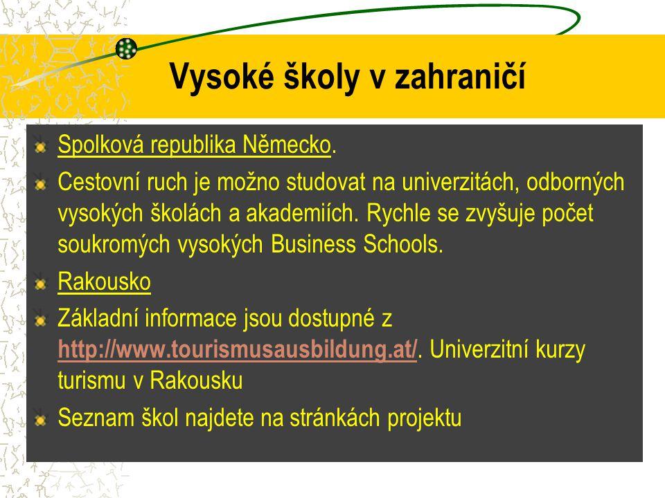 Vysoké školy v zahraničí