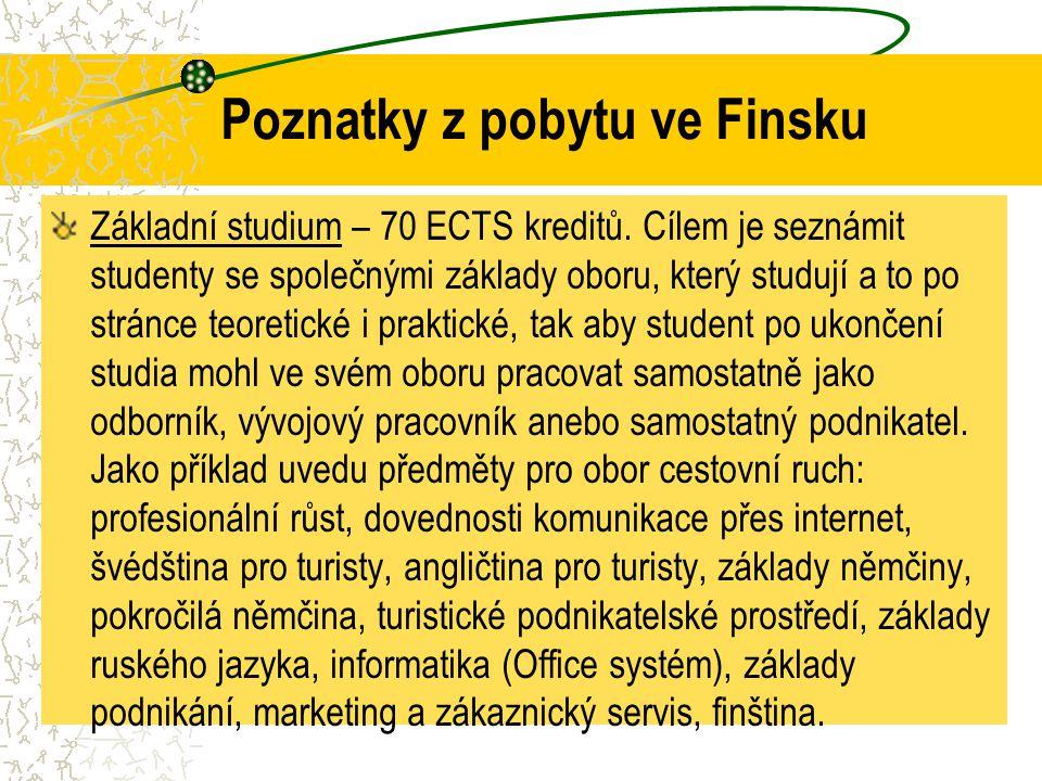 Poznatky z pobytu ve Finsku