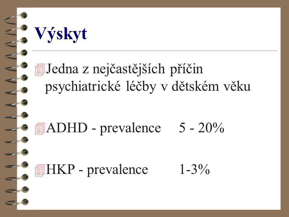 Výskyt Jedna z nejčastějších příčin psychiatrické léčby v dětském věku