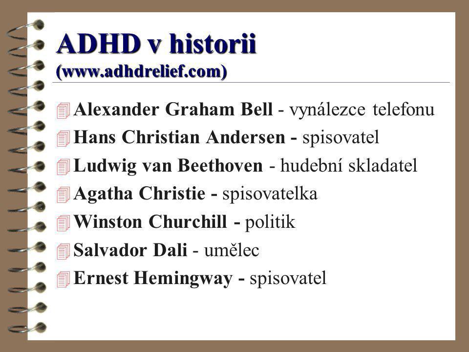 ADHD v historii (www.adhdrelief.com)