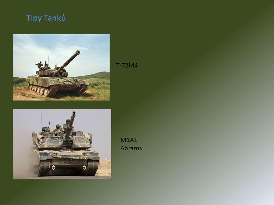 Tipy Tanků T-72M4 M1A1 Abrams