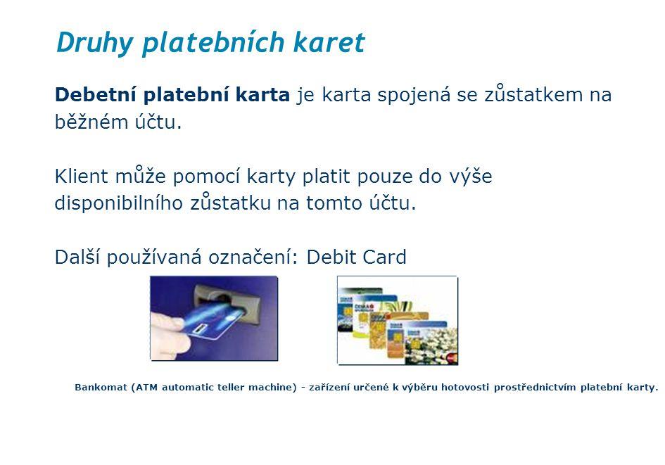 Druhy platebních karet