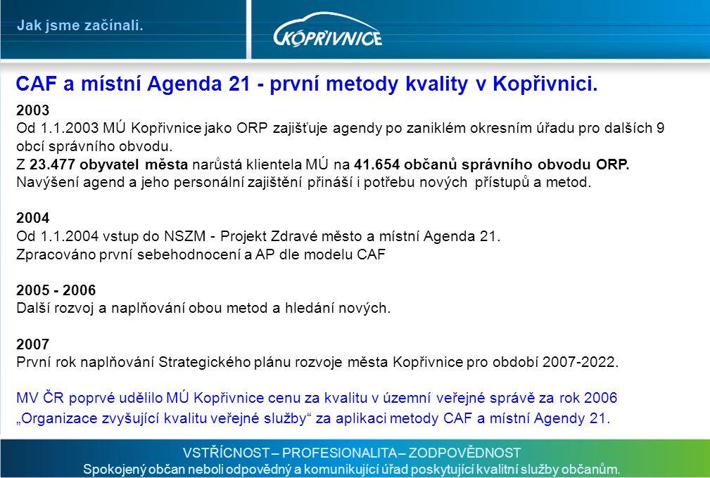 CAF a místní Agenda 21 - první metody kvality v Kopřivnici.