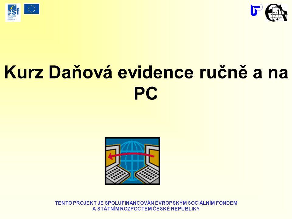 Kurz Daňová evidence ručně a na PC