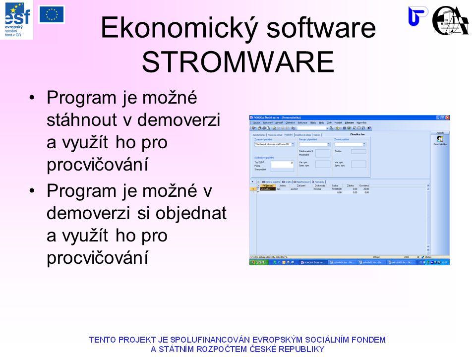 Ekonomický software STROMWARE