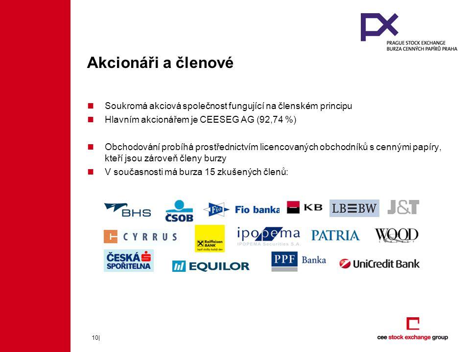 Akcionáři a členové Soukromá akciová společnost fungující na členském principu. Hlavním akcionářem je CEESEG AG (92,74 %)