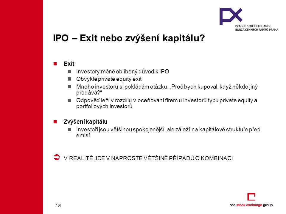 IPO – Exit nebo zvýšení kapitálu