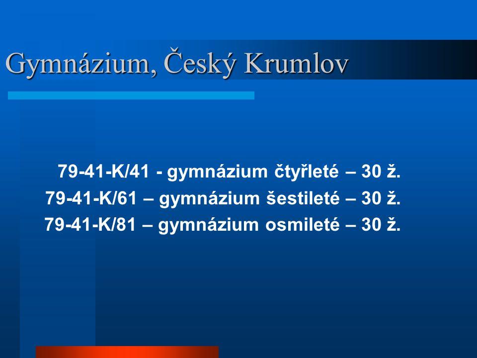 Gymnázium, Český Krumlov