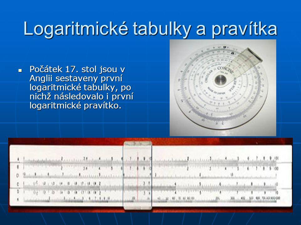 Logaritmické tabulky a pravítka