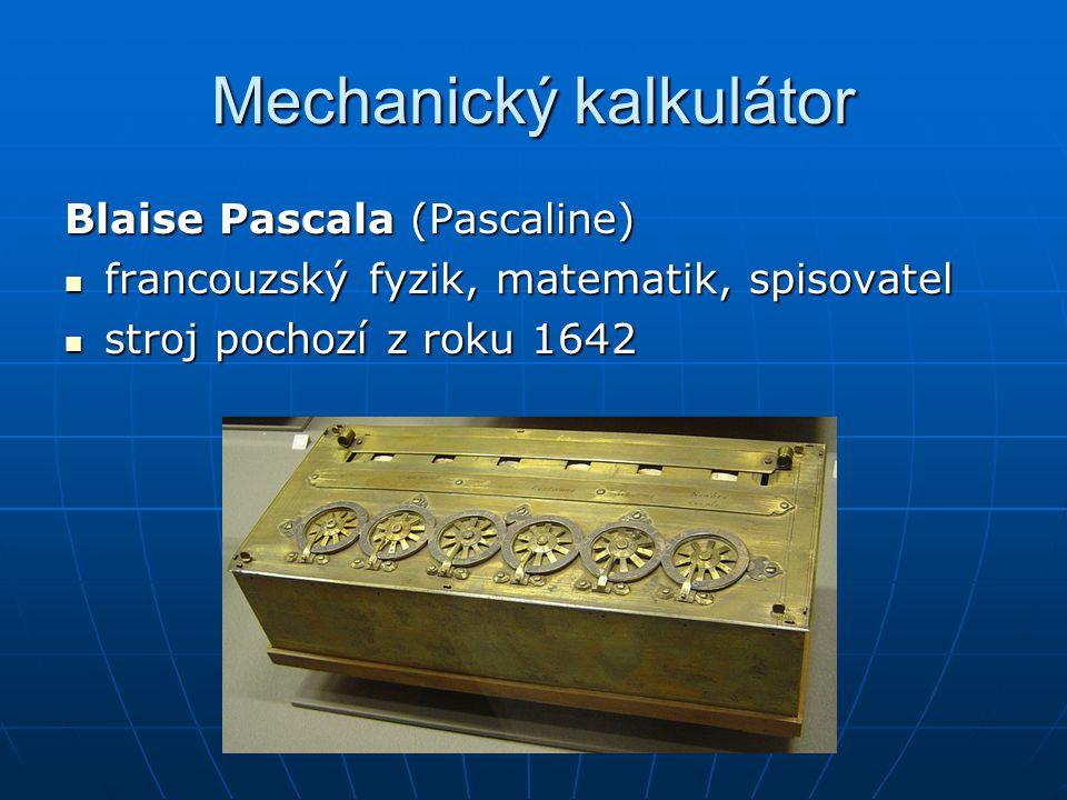 Mechanický kalkulátor