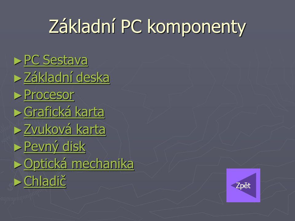 Základní PC komponenty