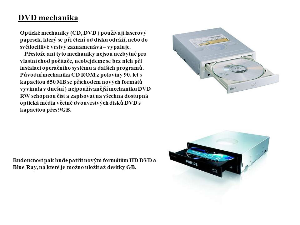 DVD mechanika