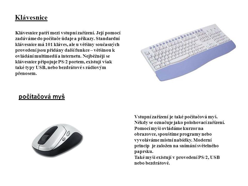 Klávesnice počítačová myš