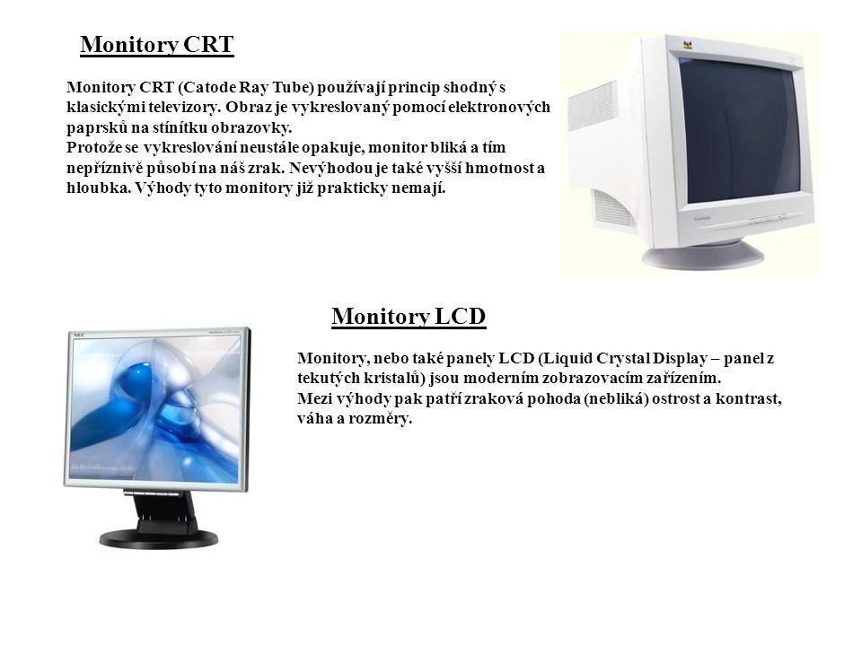 Monitory CRT Monitory LCD
