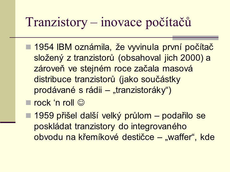 Tranzistory – inovace počítačů