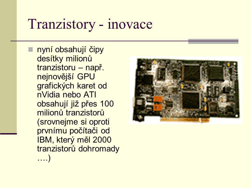 Tranzistory - inovace