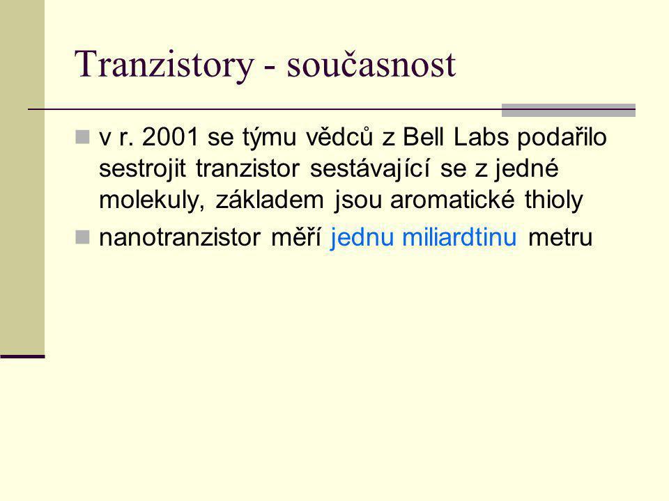 Tranzistory - současnost
