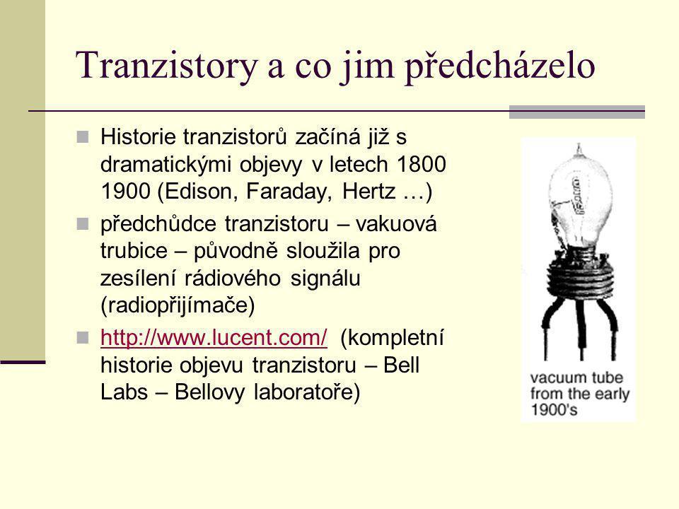 Tranzistory a co jim předcházelo