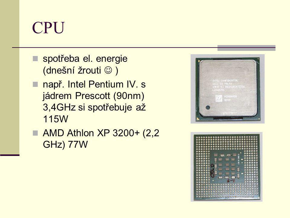 CPU spotřeba el. energie (dnešní žrouti  )