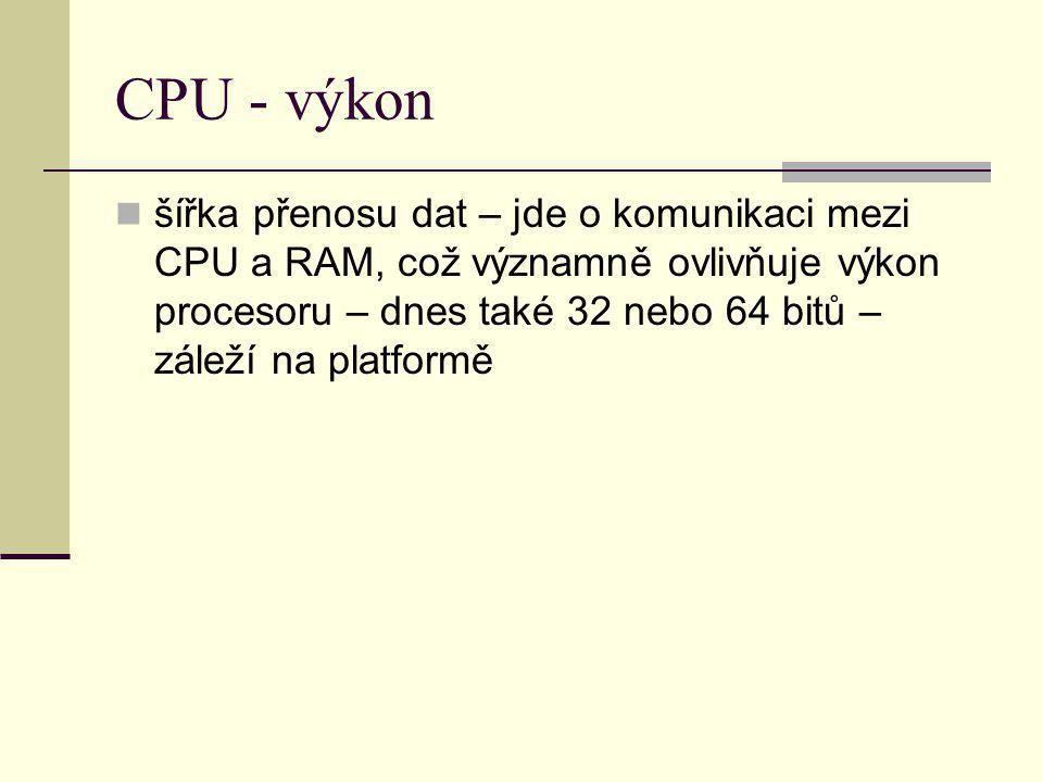 CPU - výkon
