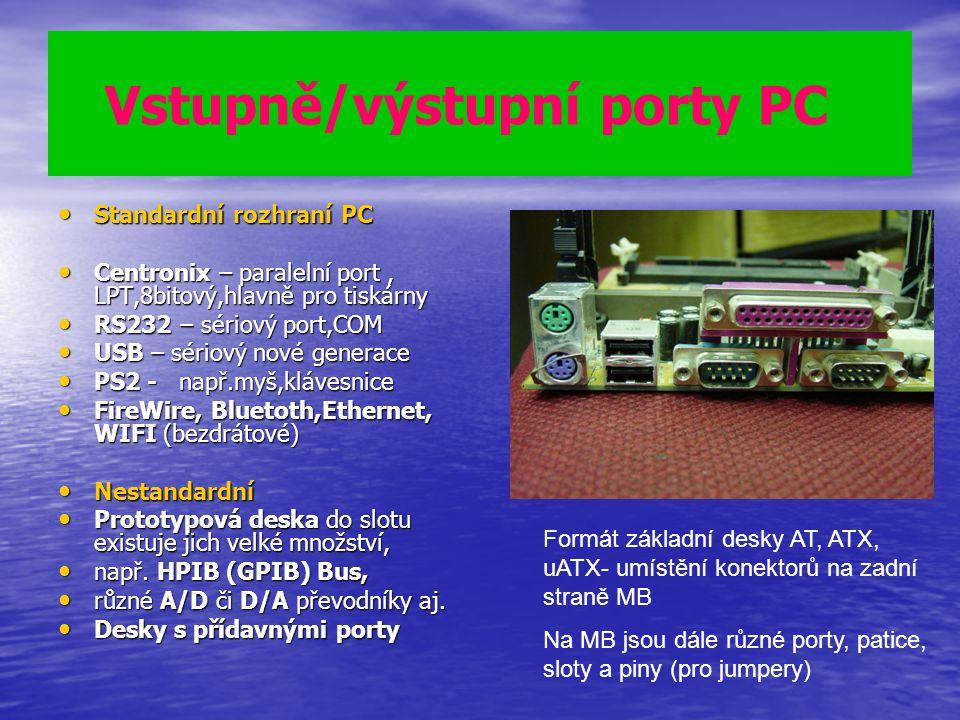 Vstupně/výstupní porty PC