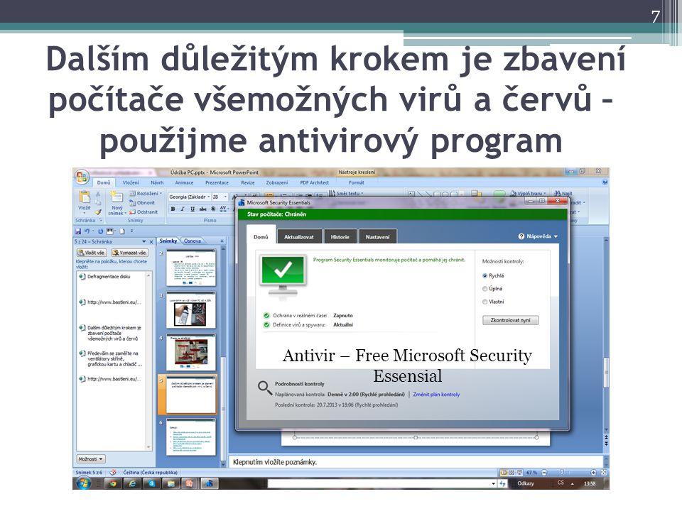 Antivir – Free Microsoft Security Essensial