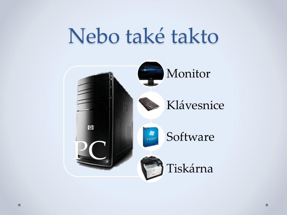Nebo také takto PC Monitor Klávesnice Software Tiskárna