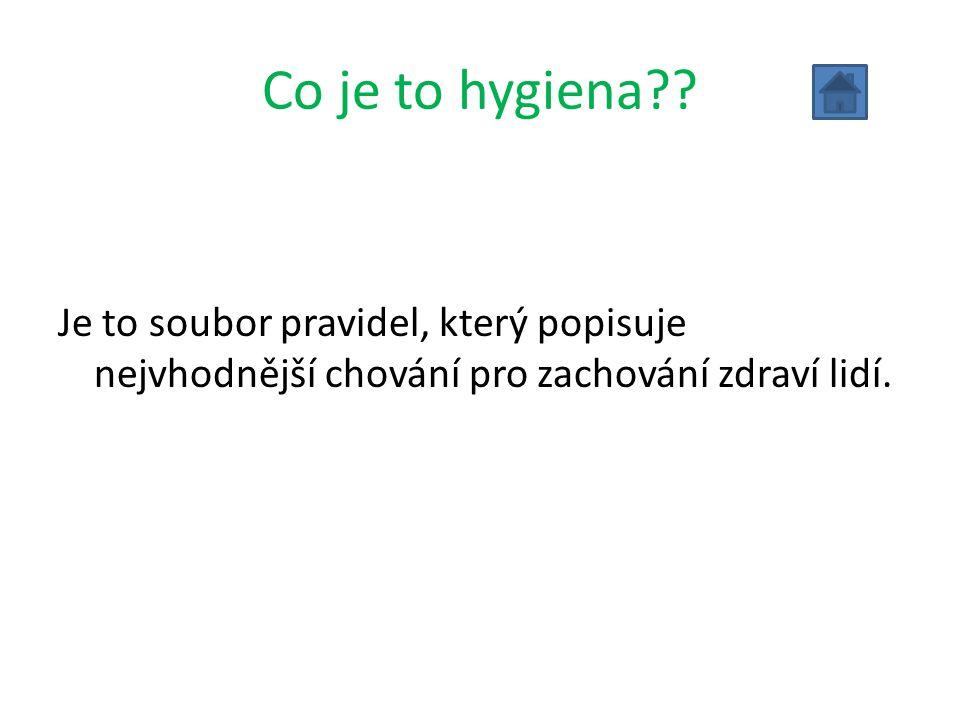 Co je to hygiena .
