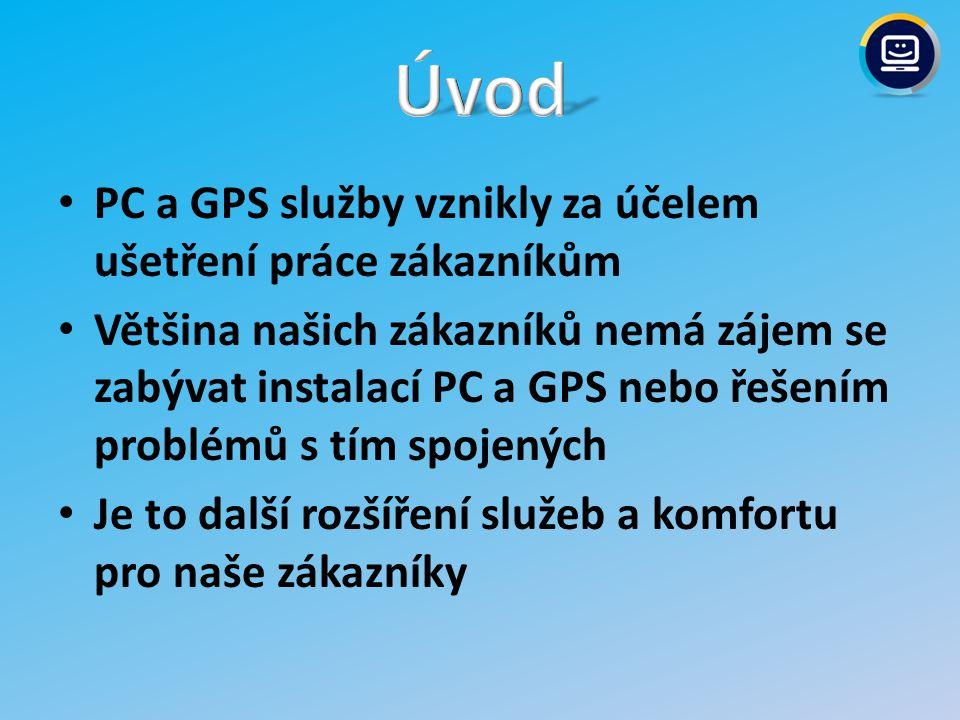 Úvod PC a GPS služby vznikly za účelem ušetření práce zákazníkům