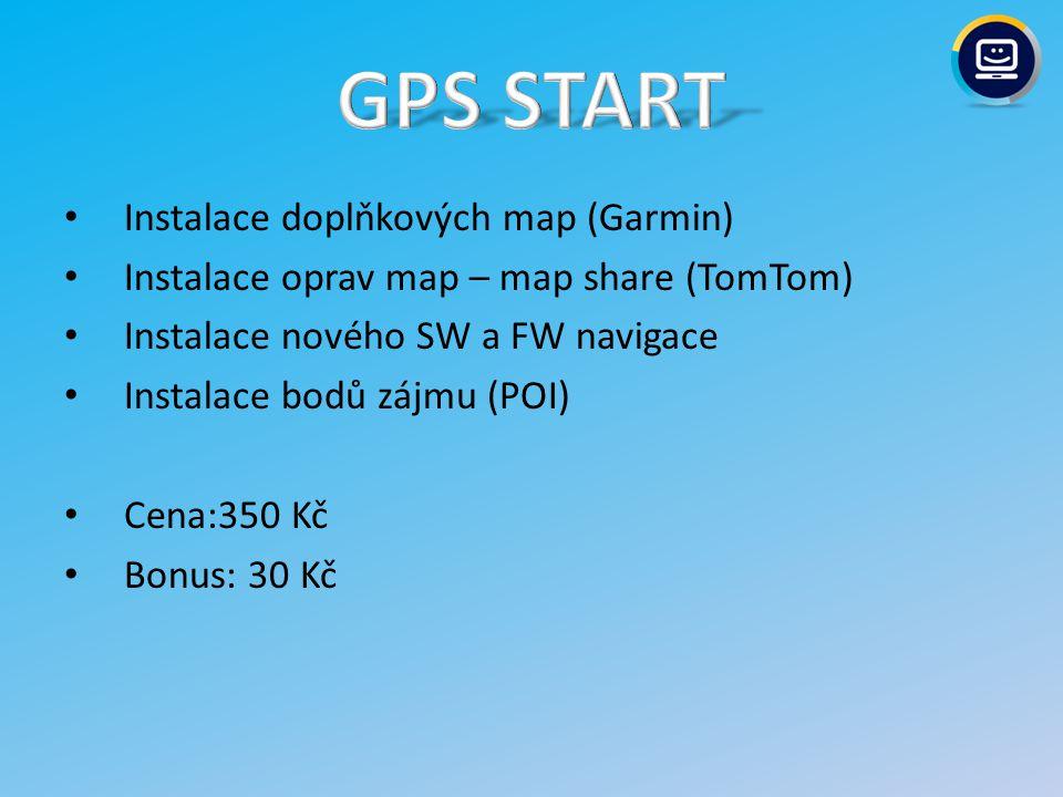 GPS START Instalace doplňkových map (Garmin)