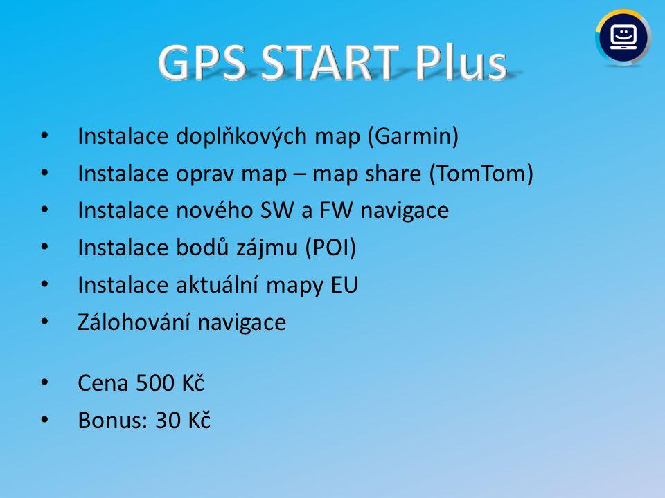 GPS START Plus Instalace doplňkových map (Garmin)