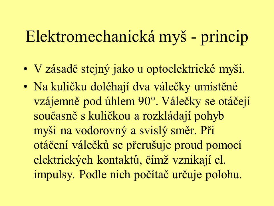 Elektromechanická myš - princip