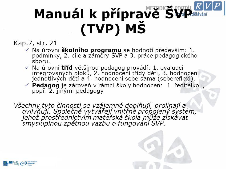 Manuál k přípravě ŠVP (TVP) MŠ