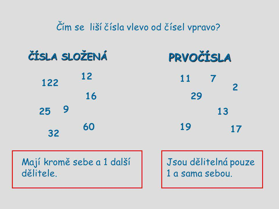Čím se liší čísla vlevo od čísel vpravo