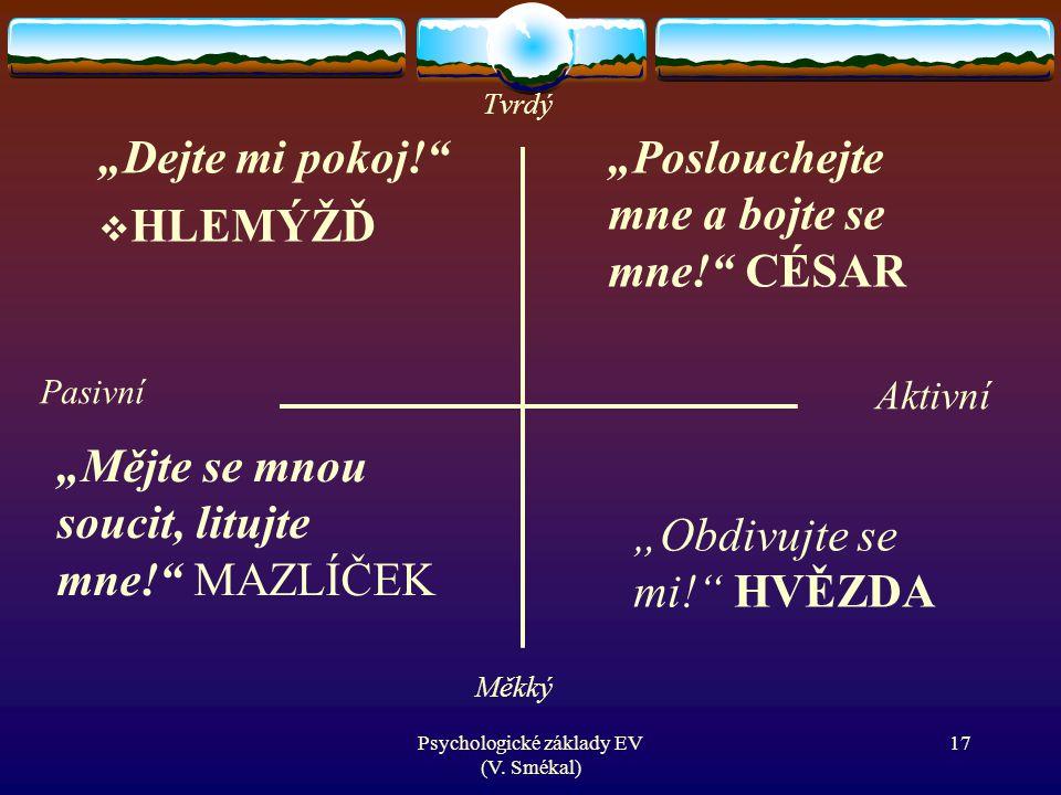 Psychologické základy EV (V. Smékal)