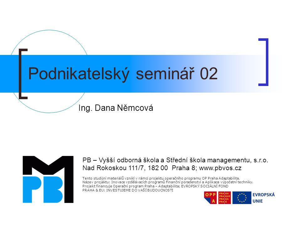 Podnikatelský seminář 02