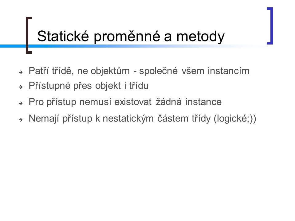 Statické proměnné a metody