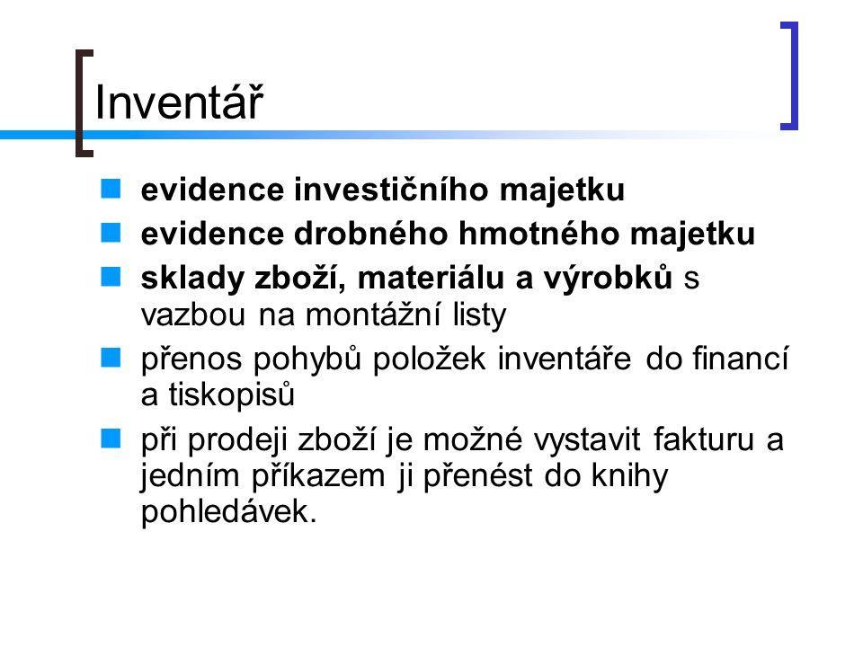 Inventář evidence investičního majetku