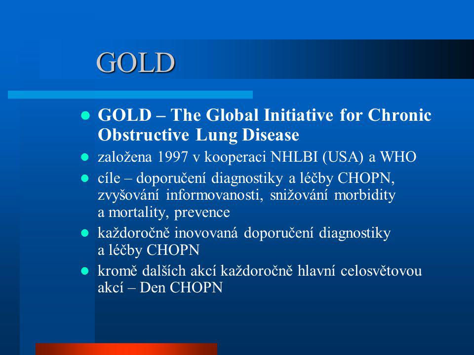 GOLD GOLD – The Global Initiative for Chronic Obstructive Lung Disease
