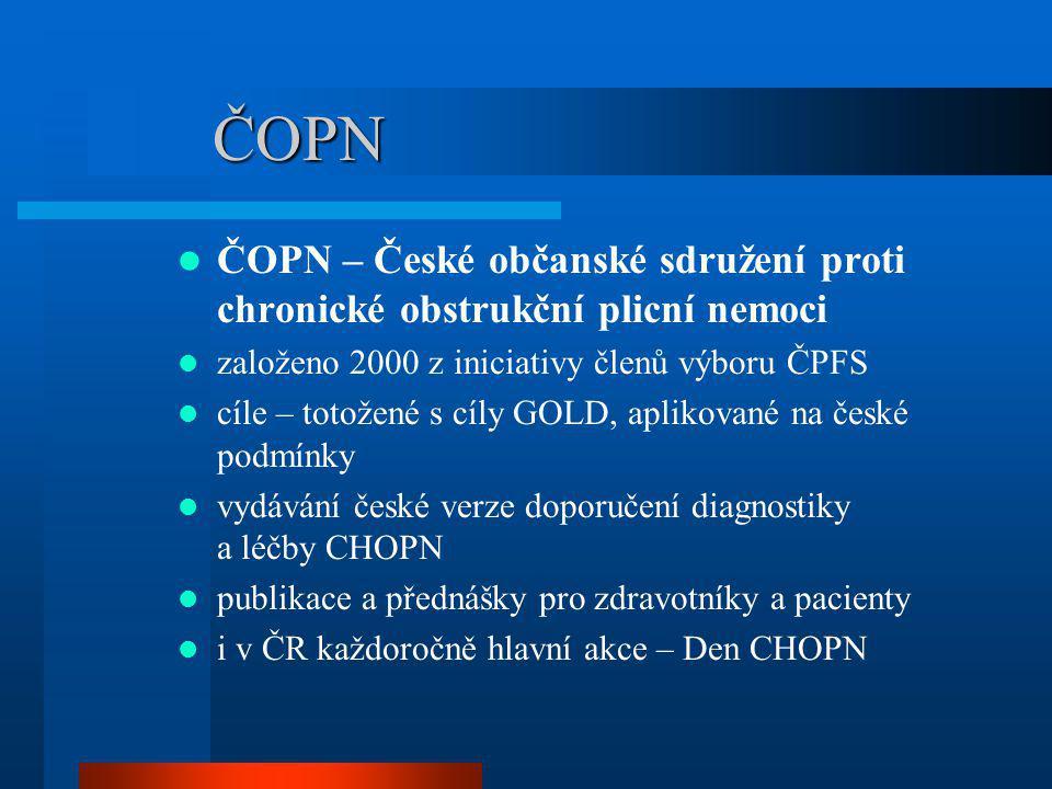 ČOPN ČOPN – České občanské sdružení proti chronické obstrukční plicní nemoci. založeno 2000 z iniciativy členů výboru ČPFS.