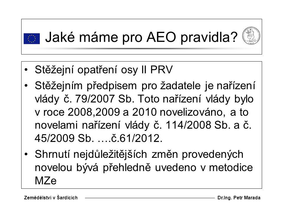 Jaké máme pro AEO pravidla